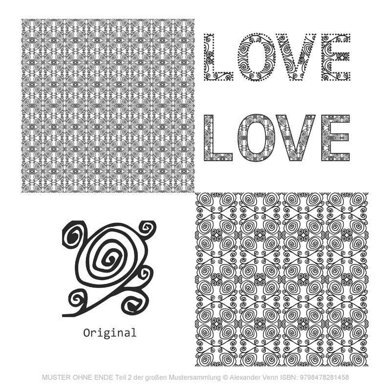 Blumenranken oder andere florale Muster zum dekorieren von Wortbildern (Mustersammlung)