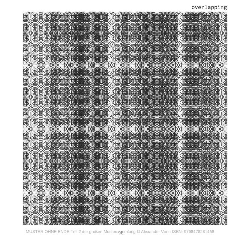 Überlappung von Mustern im Buch der Mustersammlung (Ursprung gezeichnet)