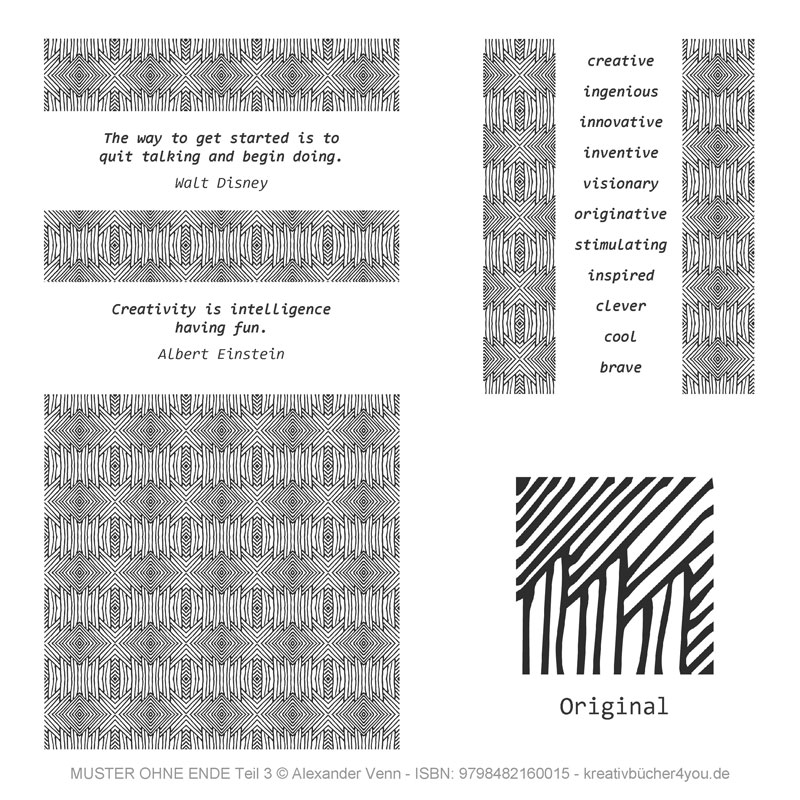 Muster für Ornamente und Bordüren