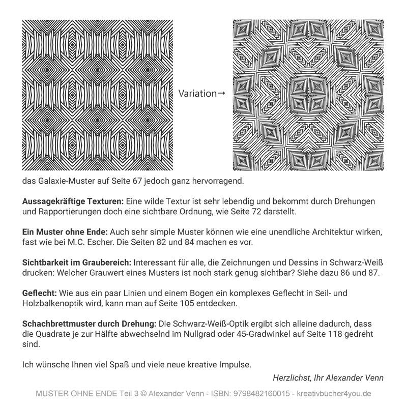 Praktische Anwendung des Musters und seiner Variationen