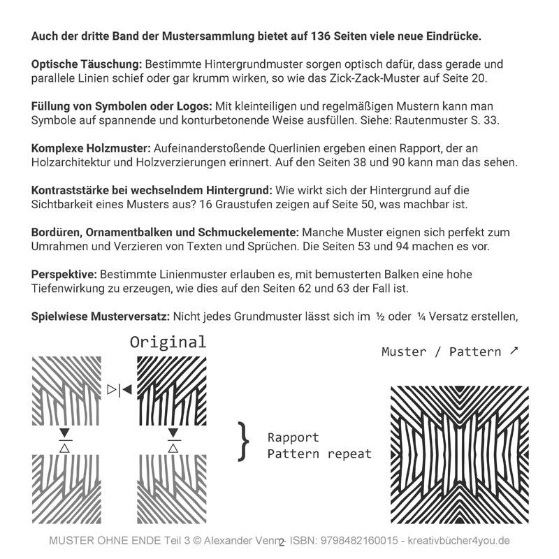 Die Grundlage für jedes Muster von der Zeichnung zum Rapport