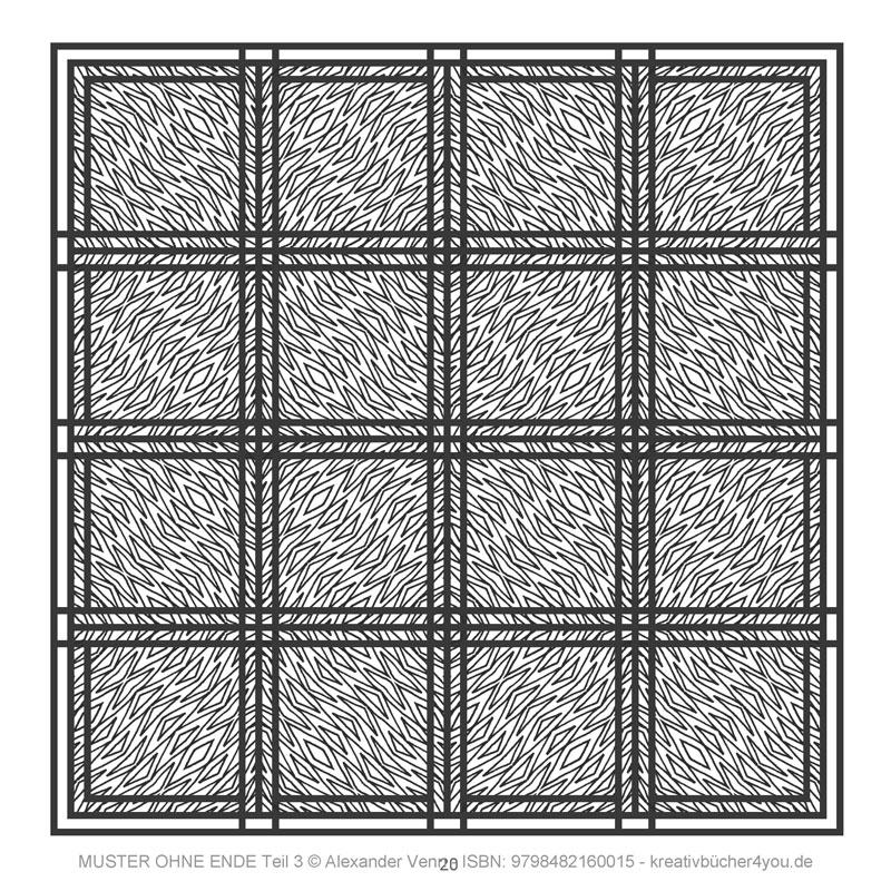 Zick-Zack-Muster, optische Täuschung in der Mustersammlung